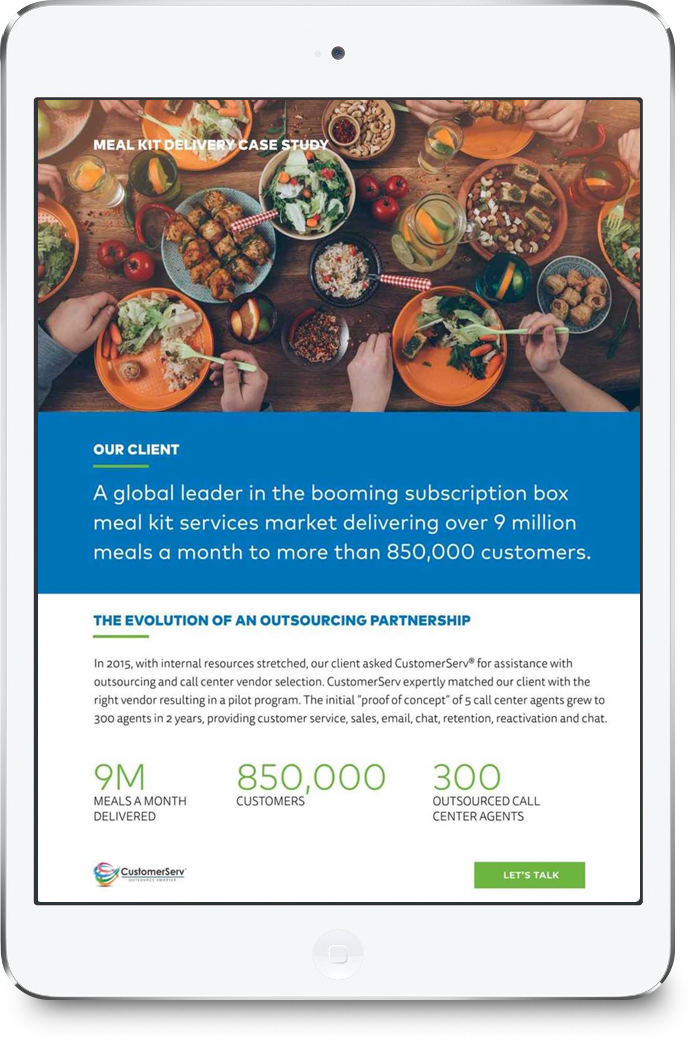 CSV Meal Kit Case Study Download Cover